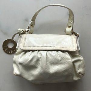 Fendi Mini White Leather Chef Bag